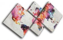 Watercolour  Abstract Maps Flags - 13-6014(00B)-MP19-LO